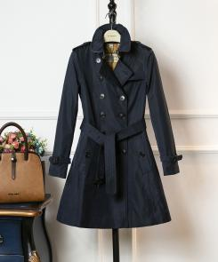 burberry vintage trench 2018 femmes london mid windbreaker blue